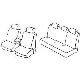 Set coprisedili Superior - Beige - Seat Toledo (01 13 07 15) - Skoda Rapid 5p (01 13 12 14)