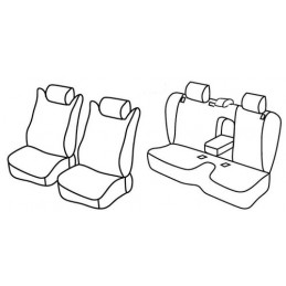Set coprisedili Superior - Beige - Subaru Forester (04 08 01 13)