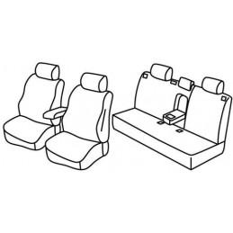 Set coprisedili Superior - Nero Rosso - Chevrolet Cruze 4p (03 09 09 15)