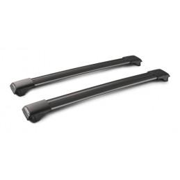 Rail Black  coppia barre portatutto in alluminio - 91 cm