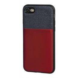 Duo pocket  cover bicolore con inserti metallici - Apple iPhone 7   8 - Blu Bordeaux