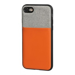 Duo pocket  cover bicolore con inserti metallici - Apple iPhone 7   8 - Grigio Arancio