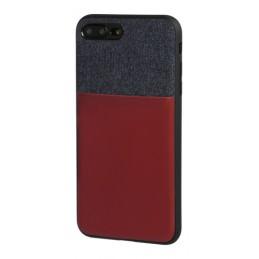 Duo pocket  cover bicolore con inserti metallici - Apple iPhone 7 Plus   8 Plus - Blu Bordeaux