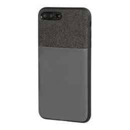 Duo pocket  cover bicolore con inserti metallici - Apple iPhone 7 Plus   8 Plus - Nero Grigio