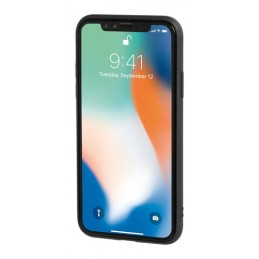 Duo pocket  cover bicolore con inserti metallici - Apple iPhone X - Grigio Arancio