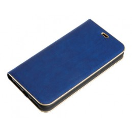 Club  cover a libro in similpelle - Apple iPhone X - Blu Oro