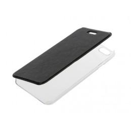 Clear Back  cover trasparente con sportello protettivo - Apple iPhone 6   6s - Nero