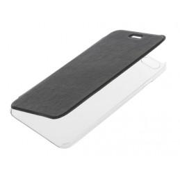 Clear Back  cover trasparente con sportello protettivo - Apple iPhone 6 Plus   6s Plus - Nero