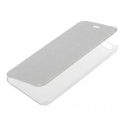 Clear Back  cover trasparente con sportello protettivo - Apple iPhone 6 Plus   6s Plus - Argento
