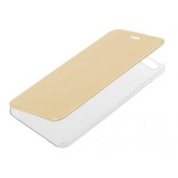 Clear Back  cover trasparente con sportello protettivo - Apple iPhone 6 Plus   6s Plus - Oro