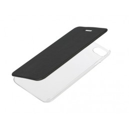 Clear Back  cover trasparente con sportello protettivo - Apple iPhone 7   8 - Nero