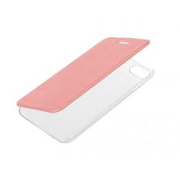 Clear Back  cover trasparente con sportello protettivo - Apple iPhone 7   8 - Oro Rosa