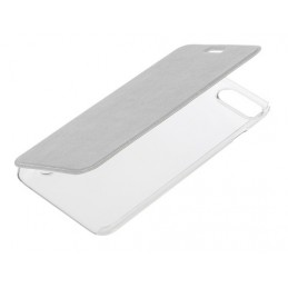Clear Back  cover trasparente con sportello protettivo - Apple iPhone 7 Plus   8 Plus - Argento