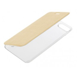 Clear Back  cover trasparente con sportello protettivo - Apple iPhone 7 Plus   8 Plus - Oro