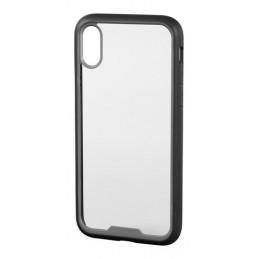 Prime  cover protettiva con cornice colorata - Apple iPhone X - Trasparente Nero