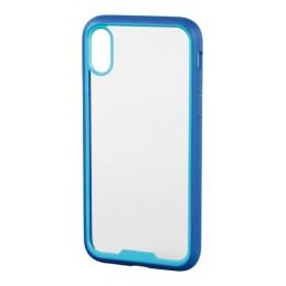 Prime  cover protettiva con cornice colorata - Apple iPhone X - Trasparente Blu