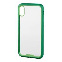 Prime  cover protettiva con cornice colorata - Apple iPhone X - Trasparente Verde