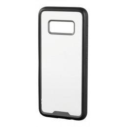 Prime  cover protettiva con cornice colorata - Samsung Galaxy S8 - Trasparente Nero