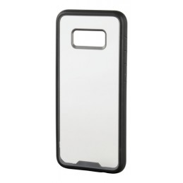 Prime  cover protettiva con cornice colorata - Samsung Galaxy S8+ - Trasparente Nero