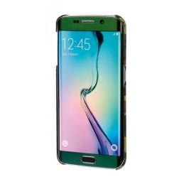 Stylish  cover gommata sottile - Samsung Galaxy S6 Edge - Green Camo