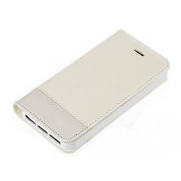 Wallet Folio Case  cover a libro - Apple iPhone 5   5s   SE - Bianco