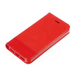 Wallet Folio Case  cover a libro - Apple iPhone 5   5s   SE - Rosso