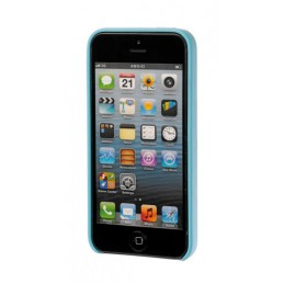 Skin  cover in similpelle - Apple iPhone 5   5s   SE - Azzurro