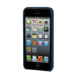 Skin  cover in similpelle - Apple iPhone 5   5s   SE - Blu scuro