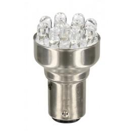 LAM-58376 - 12V Lampada Multi-Led 11 Led - (P21 5W) - BAY15d - 1 pz  - D Blister