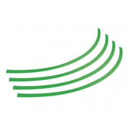 Rim-Stickers  profili adesivi ruota - Taglia 1 - Verde