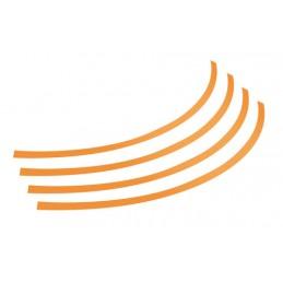 Rim-Stickers  profili adesivi ruota - Taglia 1 - Arancio