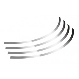 Rim-Stickers  profili adesivi ruota - Taglia 2 - Cromo