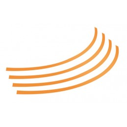 Rim-Stickers  profili adesivi ruota - Taglia 2 - Arancio