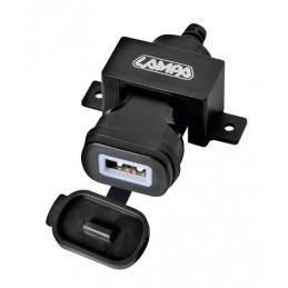 Usb Fix Omega  caricatore Usb 12 24V con fissaggio a vite e connettori a forcella