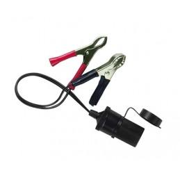 Presa corrente con clips batteria 12 24V