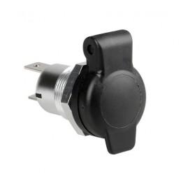Presa corrente DIN in alluminio  montaggio ad incasso  12 24V