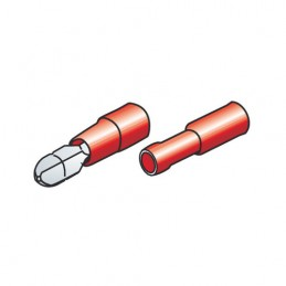 Kit 40 terminali-capicorda rotondi - Rosso