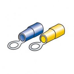 Kit 40 terminali-capicorda ad anello - Giallo Blu