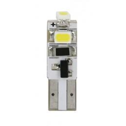 12V Hyper-Led 3 - 3 SMD x 1 chip - (T5) - W2x4 6d - 2 pz  - Scatola - Bianco - Doppia polarità