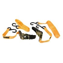 """Pro-Safe  set 2 nastri tensori con cricchetto a doppio gancio """"S"""" - 500 cm"""