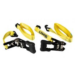 Pro-Safe  set 2 nastri tensori con cricchetto a doppio gancio - 5 m