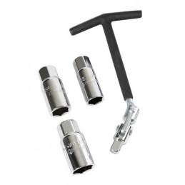 Chiave svitacandele snodabile - 16+18+21 mm