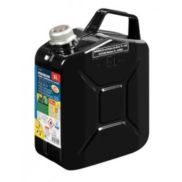Premium  tanica carburante in metallo - 5 L - Nero