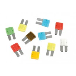 Set 10 micro fusibili lamellari Micro-Due assortiti  12 32V