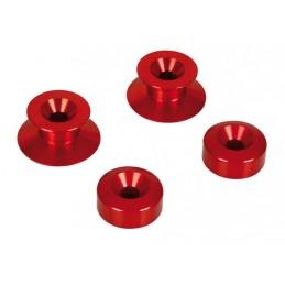 Kit supporti cavalletto - 10 mm - Rosso