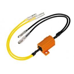 Resistenze pre-cablate con connettori rapidi  2 pz - 12V - 6 OHM - 25 W