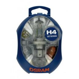 12V Kit Lampade di ricambio 12V - 1 pz  - Scatola Plast. - H4