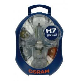 12V Kit Lampade di ricambio 12V - 1 pz  - Scatola Plast. - H7