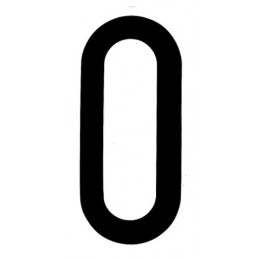Spell-It  caratteri alfanumerici adesivi 80x35 mm - O