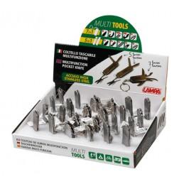 Multi Tools  coltelli multifunzione tascabili  espositore 24 pz